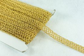 Metallic Gold 20mm Criss Cross Braid